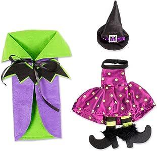 E-Living 万圣节*瓶套 3 件套 Purple Bat 10x6x1 FBA43911