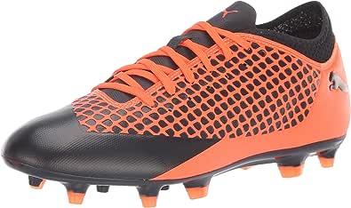 PUMA 男士 Future 2.4 Fg/Ag 足球鞋 Puma 黑色闪光橙色 7