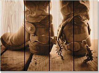 Gizaun Art Show Down Inside/Outside Wall Art, Full Color on Cedar 棕色 22-1/2-Inch by 16-Inch