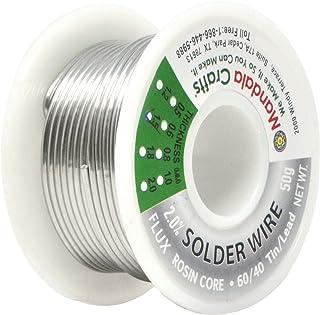 松香芯焊线适用于电气、电子、连接器、PCB 焊;由 Mandala Crafts 出品 50g 1.5mm Lead Free Solder
