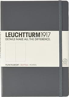 LEUCHTTURM1917 灯塔 中开点格笔记本深灰色硬封皮(A5)