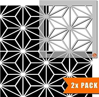 Kasai 几何瓷砖模板用于墙面及地板 | 可定制尺寸 33 cm