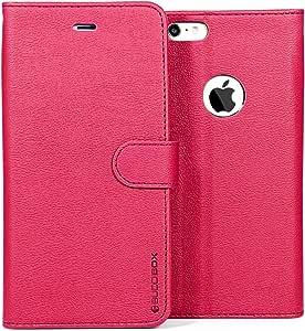 iPHONE 6 WALLET CASES, BUDDIBOX 对开式 黑色IP6-WALLET-ALL-PINK 粉红色