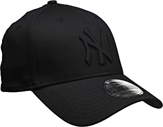 New Era 男士 MLB 基础款 NY Yankees 39Thirty Stretch Back 棒球帽,10145637, 黑色, L/XL