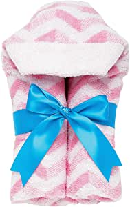AM PM Kids! Tubby Mini Towels, Chevron with Turquoise Ribbon