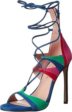 Stuart Weitzman Women's Leg-Wrap Dress Sandal 亮色 6 B(M) US