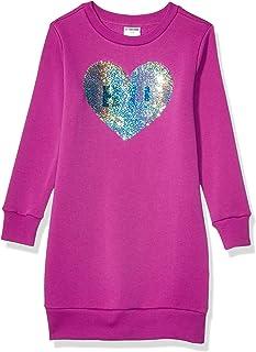 Amazon Brand - 斑点斑马女孩法兰绒长袖连衣裙