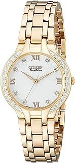 Citizen 女士 EM0123-50A 光动能 Bella 钻石点缀手表