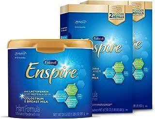 Mead Johnson 美赞臣 Enfamil Enspire婴儿奶粉和补充装,0-12个月,Omega 3 DHA,102.5盎司/约2.91千克