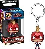 Funko 36439 公仔! Marvel 钥匙扣:MarvelCaptain Marvel 面具,多色