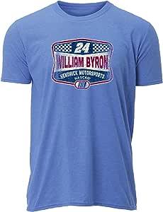 NASCAR Hendrick Motorsports 男式复古透明短袖 T 恤,麻蓝色/复古,XL 码