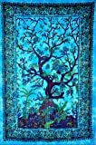 The Boho Street Exclusive Custom Range of Branded Twin Size Tapestries By, Indian Mandala Wall Art, Hippie Wall Hanging, Bohemian Bedspread