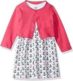 Luvable Friends 美国熊宝宝女婴连衣裙和开衫套装