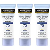 Neutrogena Ultra Sheer Dry-Touch Sunscreen, Broad Spectrum Spf 70, 3 Oz. (Pack of 3)