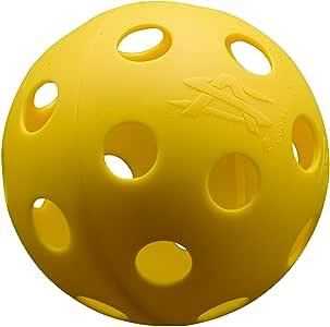 运动*穿孔棒球包 6 个黄色