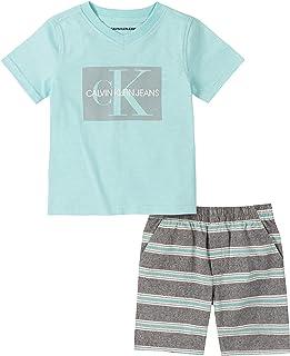Calvin Klein 男婴 2 件短裤套装