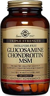 Solgar Triple Strength Glucosamine Chondroitin MSM Tablets,120 Tablets