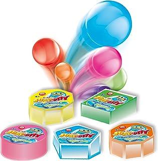 CRAZE JUMPUTTY 弹簧黏土 多彩 儿童黏土 15 克 罐装 Jump 黏土 儿童派对礼物 18675, 5 种颜色
