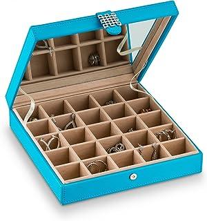 经典 25 节首饰盒/收纳盒/盒/耳环、戒指、袖扣或收藏夹 蓝色 B00KQ2MLG8