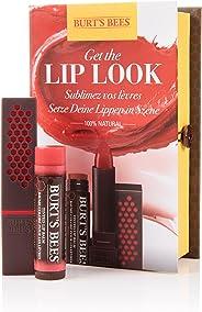 "Burt's Bees®  ""Get the Look Red Lips"" 红唇礼品套装: * 天然: 口红(3.4克),润色唇膏(4.25克)"