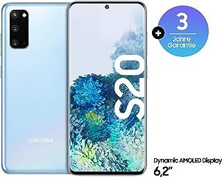Samsung Galaxy S20 Smartphone Bundle (15,83 cm) 128 GB interner Speicher, 8 GB RAM, Hybrid SIM, Android inkl. 36 Monate Herstellergarantie [Exklusiv bei Amazon] Deutsche Version, cloud blue
