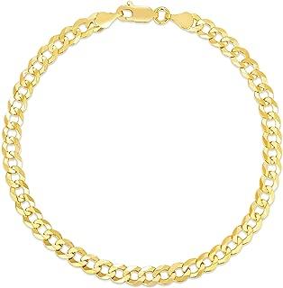 Verona Jewelers 10K 黄金中性款 5mm 意大利 20.32 cm 古巴锁链项链 - 10K 手链,10 克拉金链,10K 金锁链,10K 金锁链,10K 锁链,10K 手链