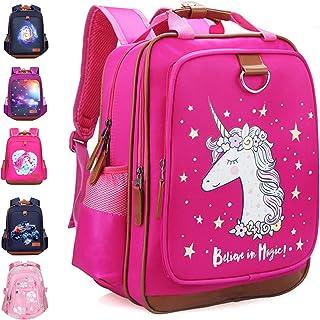 女孩背包独角兽 38.10 厘米 | 粉色儿童书包 适用于幼儿园或小学 粉色独角兽 One_Size