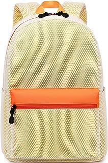 El-fmly 时尚网眼背包,适合旅行,轻质学校书包,适合女孩和男孩 黄色
