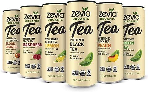Zevia *茶时间,12 只装 12 Fluid Ounce