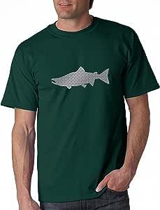 Alaskan Hardgear Salmon 印花短袖图案 T 恤 中 RR-10SAL