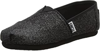 TOMS Youth/Tiny Classics 2.0 一脚蹬鞋 Black Iridescent Glimmer 13.5 M US Little Kid