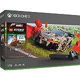Xbox One X 1TB 游戏主机+ 极限竞速:地平线4 + 乐高竞速 同捆套装