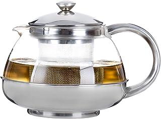 Café Ole Behive Infuser 圆形玻璃茶壶,带保温器和不锈钢手柄 透明 750ml / 0.75L ITP-750