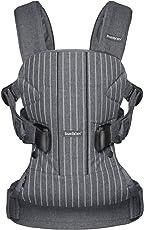 BABYBJORN BABY CARRIER ONE 婴儿背带 BEYOU系列 (条纹灰 棉混纺 可后背 新生即可使用)