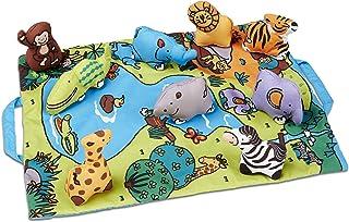 Melissa & Doug 随意折叠野生动物游戏垫(48.26 x 36.83 厘米)带 9 个动物