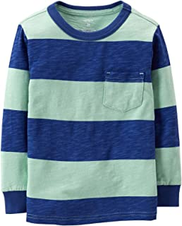 Carter's Striped Tee (Baby) Blue