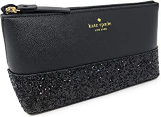 Kate Spade Small Little Shiloh Glittered Cosmetic Case Bag Black
