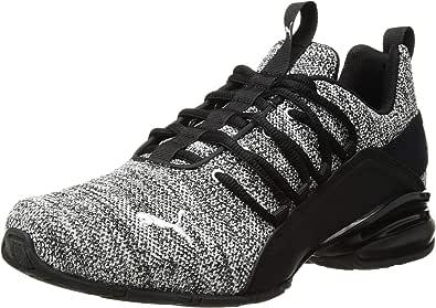 PUMA 男士 Axelion 运动鞋 黑色/白色 7