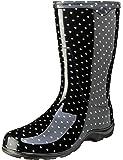 Sloggers  女式防水雨花园靴舒适鞋垫 9 黑色 5013BP09