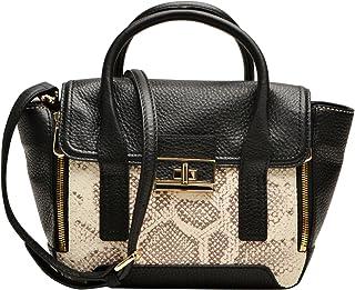 Louvier Leather Melissa 挎包,Tisserand,黑色