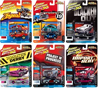 Johnny Lightning Street Freaks 2019 Set B - 压铸汽车 6 件装 - 适于收藏模型,适合儿童和成人 - 限量版