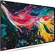 投影仪屏幕户外便携 - EleTab 16:9 HD 可折叠防折痕投影电影屏幕适用于家庭影院支持双面投影