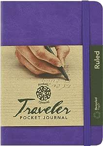 Pentalic Ruled Traveler Pocket Journal, 6 by 4-Inch, Violet