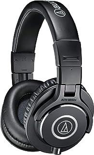 Audio-Technica 铁三角 ATH-M40x 专业录音室监听耳机,黑色