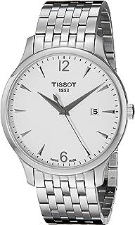 Tissot 天梭 H男士手表 模拟手表 石英 不锈钢 T063.610.11.037.00,银色