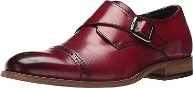 Stacy Adams 男式 Desmond 开普托系带一脚蹬乐福鞋 蔓越莓色 14 M US