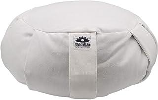 Zafu Yoga Meditation Pillow with USA Buckwheat Hull Fill, Certified Organic Cotton- 6 Colors