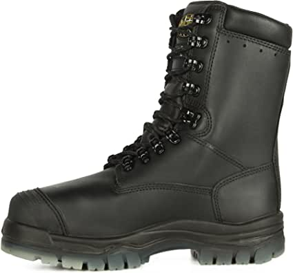 Oliver Boots 8 Inch Black Leather Insulated Waterproof Boot