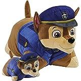 Pillow Pets Nickelodeon 狗狗巡逻队阿奇套装,16 英寸 Chase 5 英寸 Chase 迷你毛绒填充动物玩具