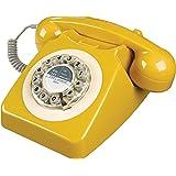 Wild Wood 旋转式复古座机电话 家庭版 英式芥末色